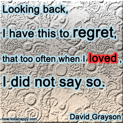 David Grayson Quote. Looking Back ...